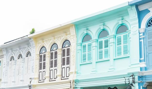 Architecture Sino-portugaise De L'ancien Bâtiment Dans La Ville De Phuket. Photo gratuit