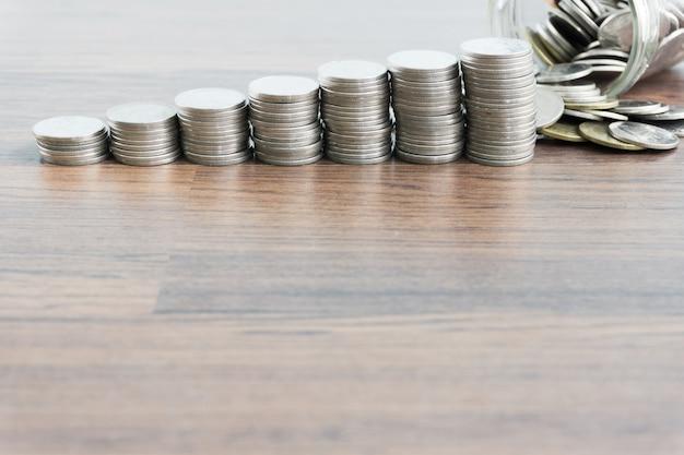 Argent de la pièce de monnaie thaïlandaise Photo Premium