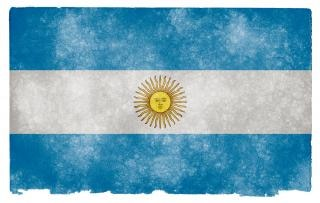 Argentina Flag Grunge Sale Photo gratuit