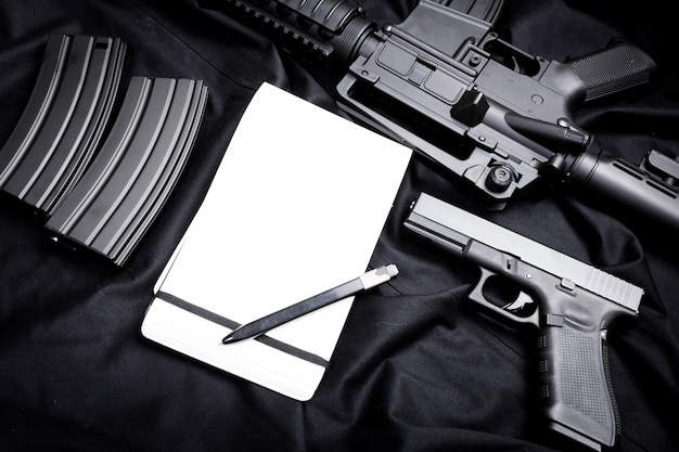 Arme moderne, noir Photo Premium