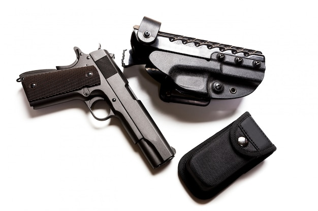 Armes à feu et munitions Photo Premium