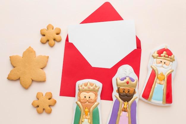 Arrangement De Figurines Comestibles En Biscuit Royalty Photo gratuit