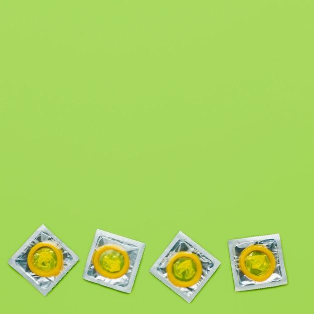 Arrangement De Méthode De Contraception Avec Copie Espace Sur Fond Vert Photo gratuit