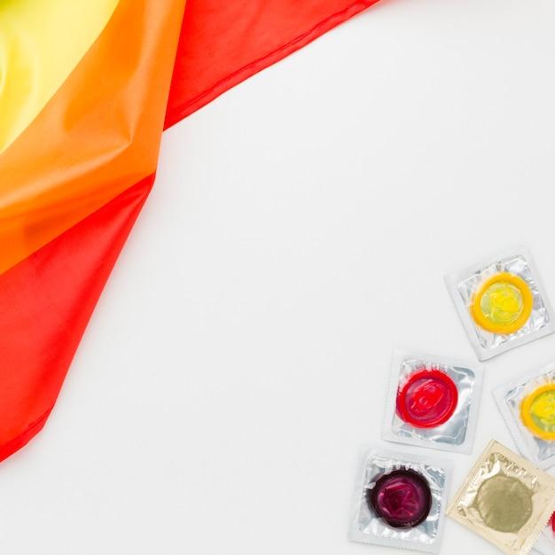Arrangement De Méthode De Contraception Avec Indicateur Lgbt Photo gratuit