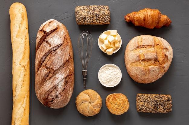 Arrangement de pain délicieux Photo gratuit