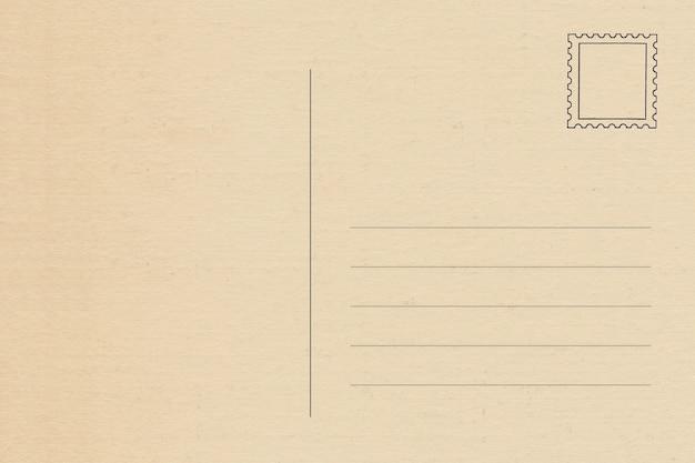 L'arrière De La Carte Postale Vierge Vintage Avec Un Espace Pour Le Texte   Photo Premium