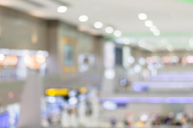 Arrière-plan Flou De L'aéroport. Photo Premium