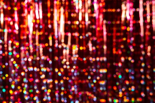 Arrière-plan flou coloré nouvel an avec espace de copie Photo gratuit