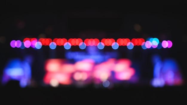 Arrière-plan flou: éclairage de bokeh en concert. Photo Premium