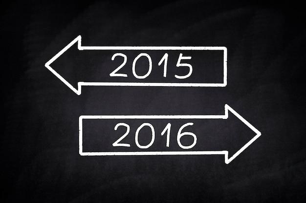 Arrows avec 2015 et 2016 Photo gratuit