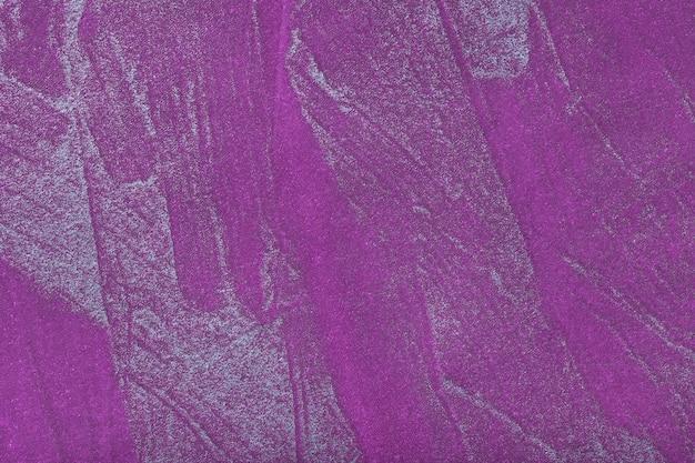 Art Abstrait Fond Violet Foncé Avec La Couleur Argentée. Peinture Multicolore Sur Toile. | Photo ...