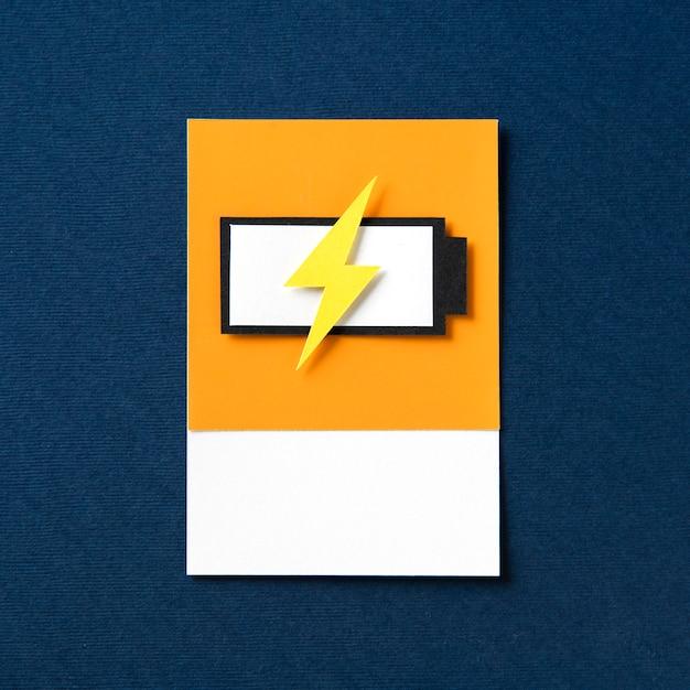 Art En Papier 3d D'une Batterie En Charge Photo gratuit