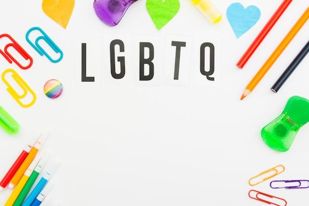 Articles De Papeterie De Jour De La Société Pride Lgbt Photo gratuit