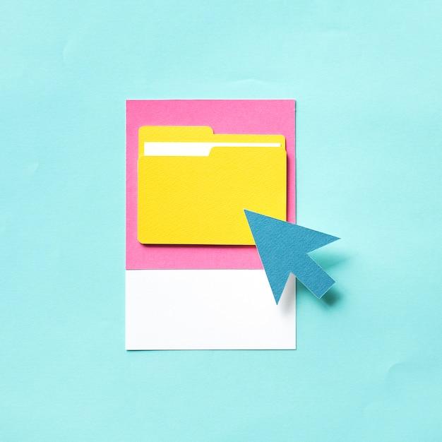 Artisanat en papier de déplacer dans un dossier Photo gratuit