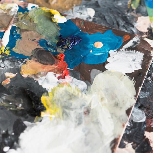Artistes peintures à l'huile abstrait multicolore Photo gratuit
