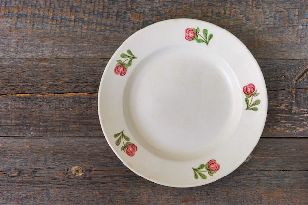 Assiette blanche Photo Premium