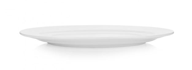 Assiette En Céramique Isolé Sur Fond Blanc Photo Premium