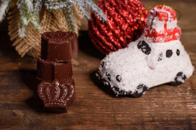 Assortiment de bonbons au chocolat Photo Premium