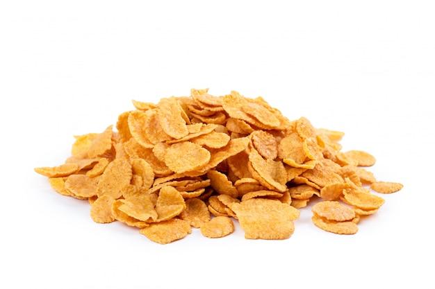 Assortiment de corn flakes isolé Photo Premium
