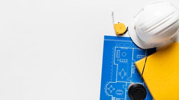 Assortiment De Différents Objets Architecturaux Avec Espace Copie Photo gratuit