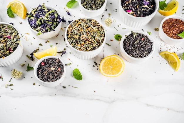 Assortiment de divers thés Photo Premium
