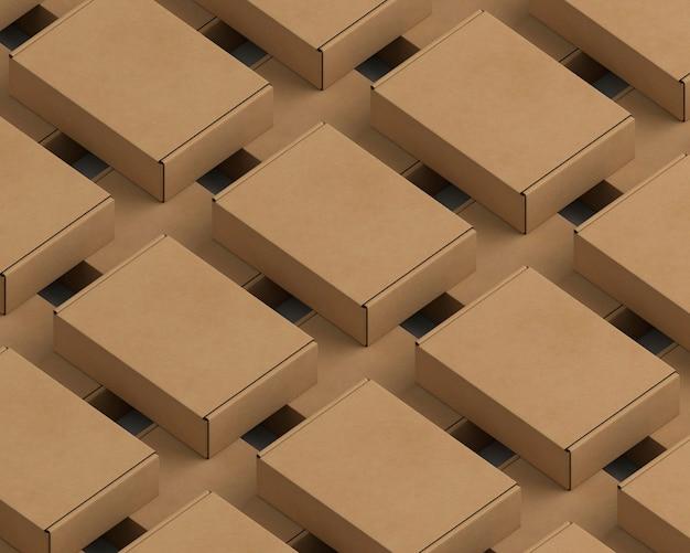 Assortiment D'emballages En Carton à Angle élevé Photo gratuit