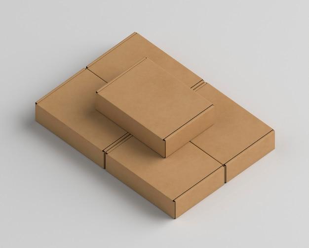 Assortiment D'emballages En Carton Photo gratuit