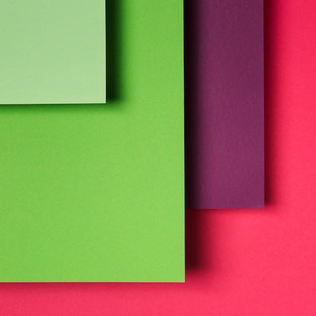 Assortiment De Feuilles De Papier Colorées Photo gratuit