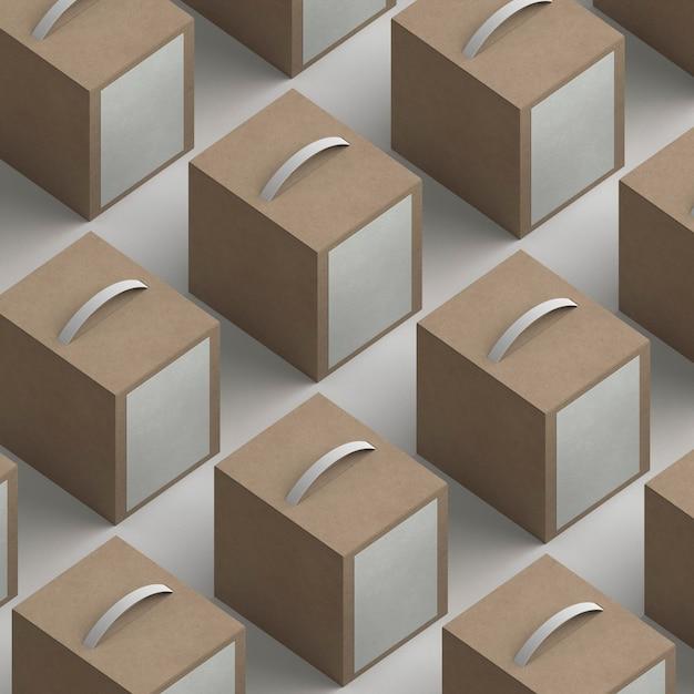 Assortiment De Packages De Produits à Angle élevé Photo gratuit