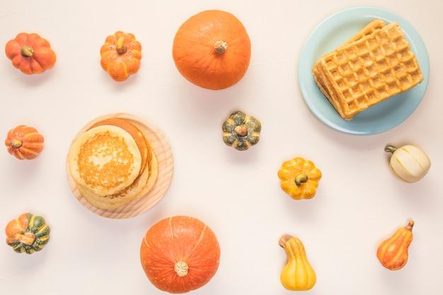Assortiment de plats d'automne Photo gratuit