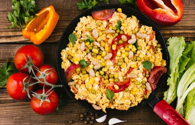 Assortiment de plats mexicains à plat Photo gratuit