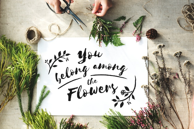 Atelier artisanal de fleurs Photo Premium