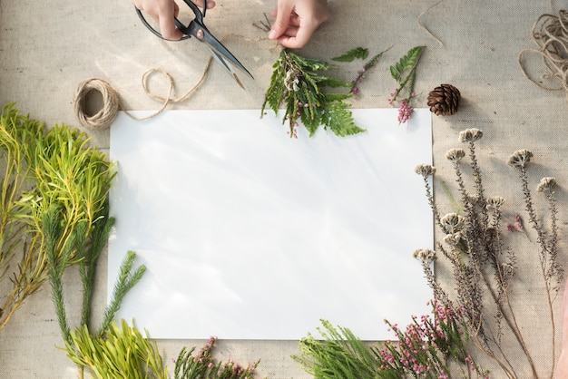 Atelier d'artisanat de fleurs Photo gratuit