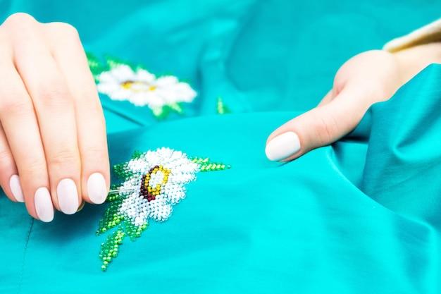 Atelier de couture et de broderie ou lieu de travail Photo Premium