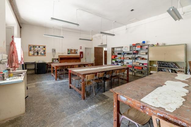 Atelier d'une école religieuse Photo Premium