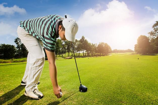 Les athlètes sont des terrains de golf Photo Premium