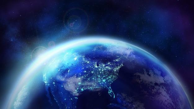 Aube Sur La Planète Terre. Photo Premium