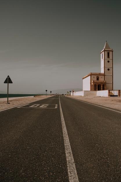 Autoroute dans le désert Photo gratuit