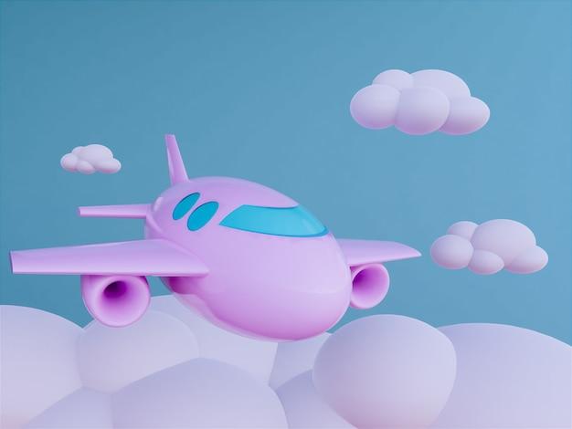 Avion avec fond de skyscape Photo Premium
