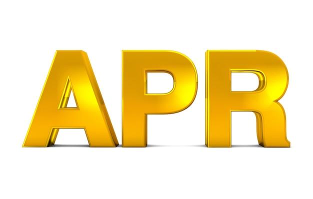 Avr Or Texte 3d - Abréviation Du Mois D'avril Isolé Sur Fond Blanc. Rendu 3d. Photo Premium