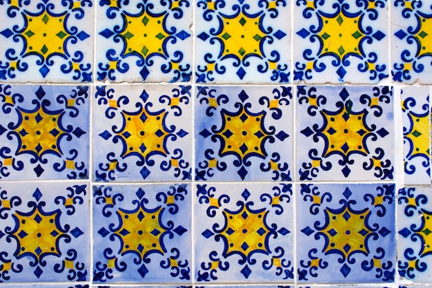 Azulejos, Carreaux De Céramique Traditionnels Portugais Photo Premium