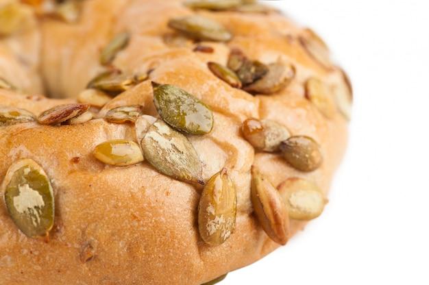 Bagel Aux Graines De Citrouille Photo Premium