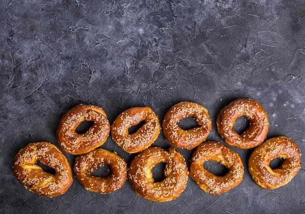 Bagels Au Sésame Doré Photo Premium