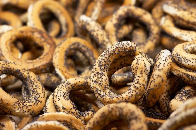 Bagels aux graines de pavot Photo Premium