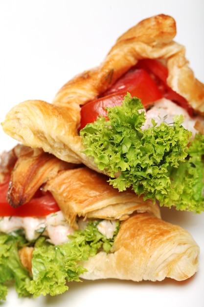 Bagels Avec Laitue Et Tomates Photo gratuit