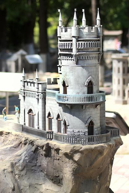 Bakhchisarai parc de miniatures. château lastochkino gnezdo. Photo Premium