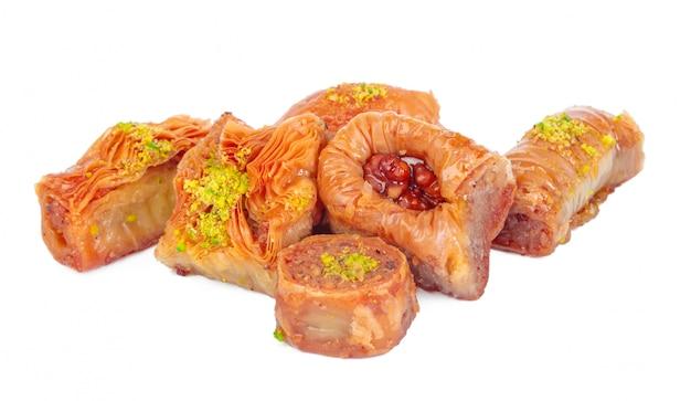 Baklava Dessert Ramadan Turc Isolé Photo Premium