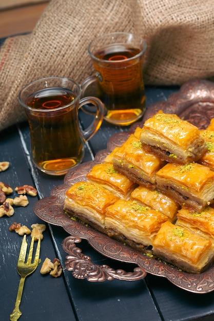 Baklava dessert ramadan turque Photo Premium