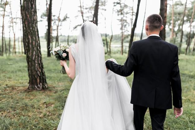 Balai et mariée Photo gratuit