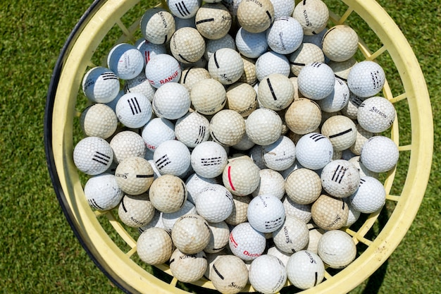 Balles de golf Photo Premium